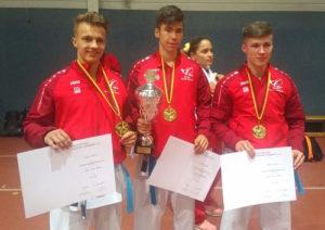 Deutscher Meister 2017 Kata Team U21 mit Jason Terry
